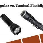 Image of Regular and Tactical Flashlight Comparison