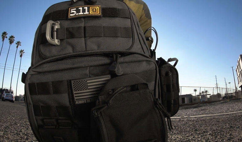 molle webbing of 5.11 RUSH72 backpack
