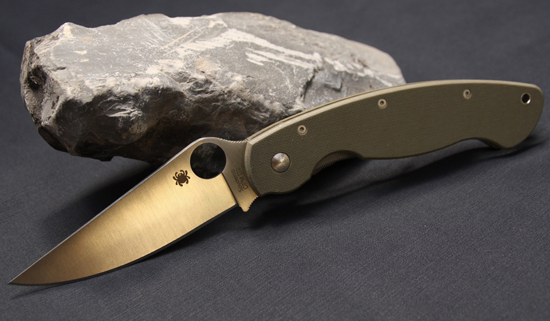 image of rock and knife