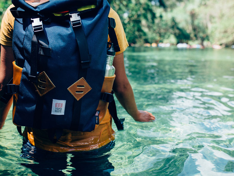 image of backpack with water storge