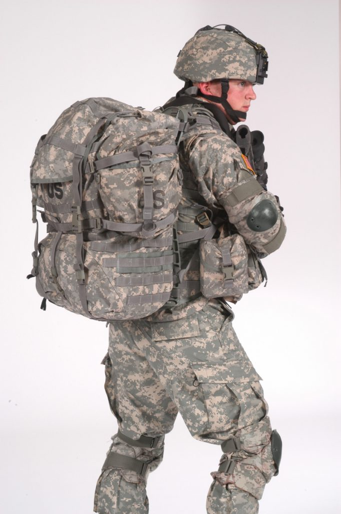 Army wearing MOLLE