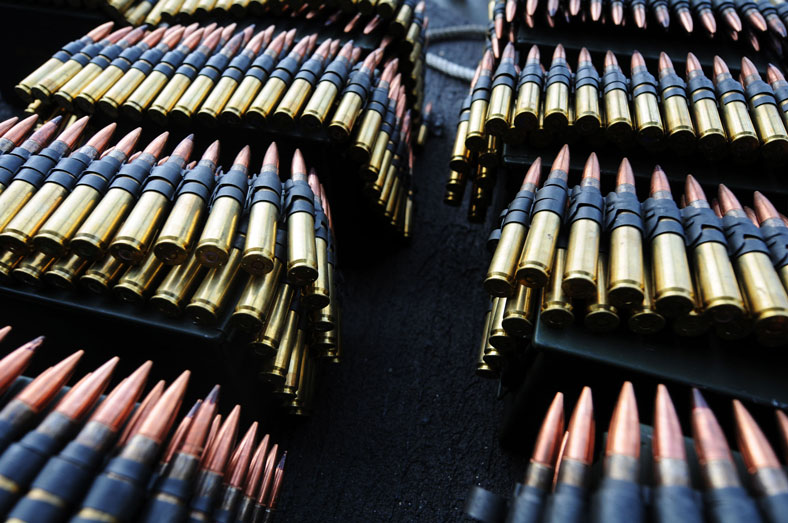 image of boxes of .50 caliber rounds