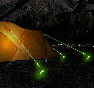 image of glow in the dark tent rope