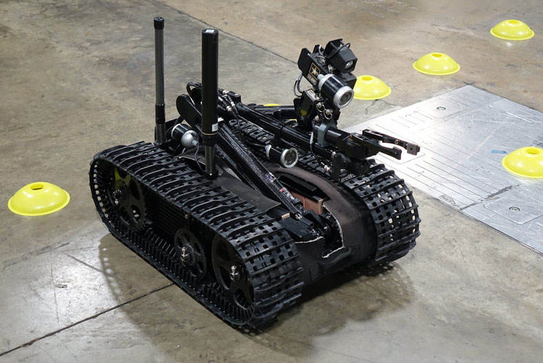 image of military combat robot